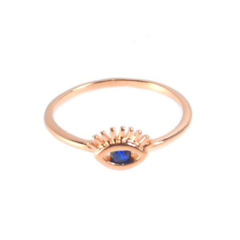 Rose Gold Eye Ring