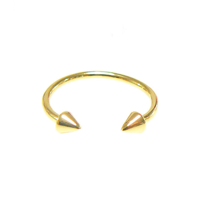 SIMPLE GOLD OPEN SPIKE RING