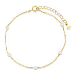 Stationed Pearl Bracelet