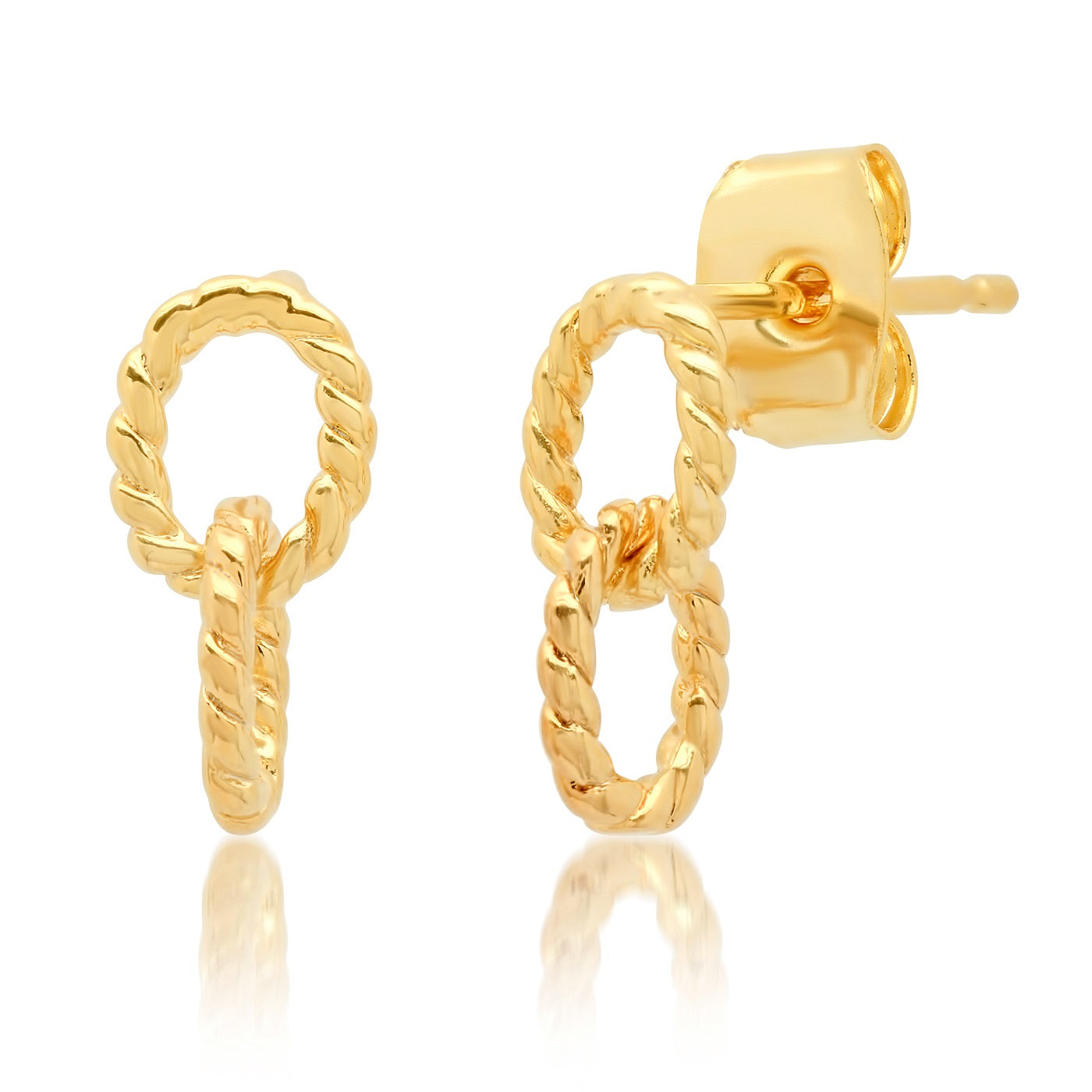 Chain Link Stud Earrings