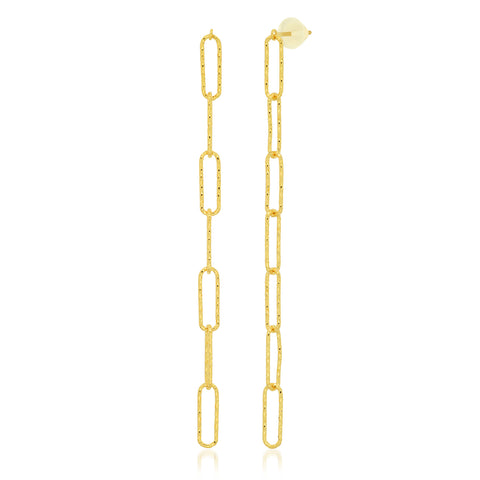 Drop Link Chain Earrings