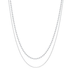 Double Chain Layering Necklace
