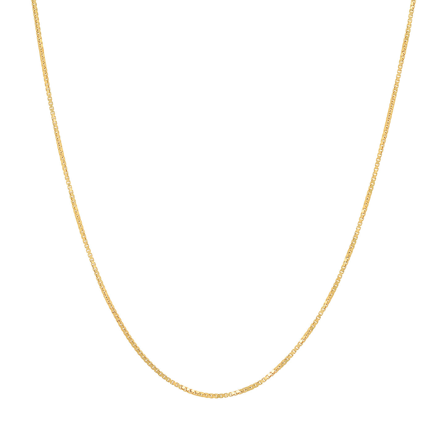 Simple Gold Vermeil Box Chain
