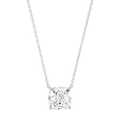 Simple Chain Necklace with Cushion Cut CZ