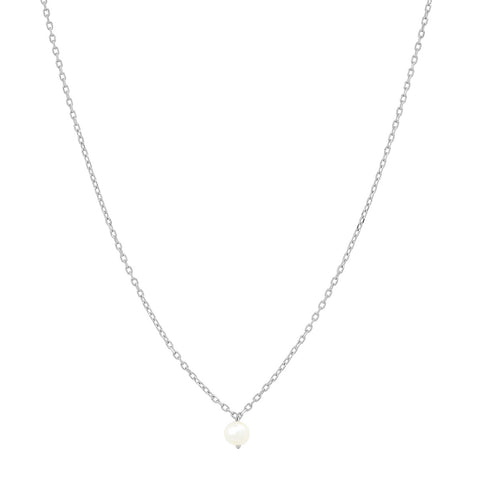 Delicate Chain with Simple Freshwater Pearl Pendant