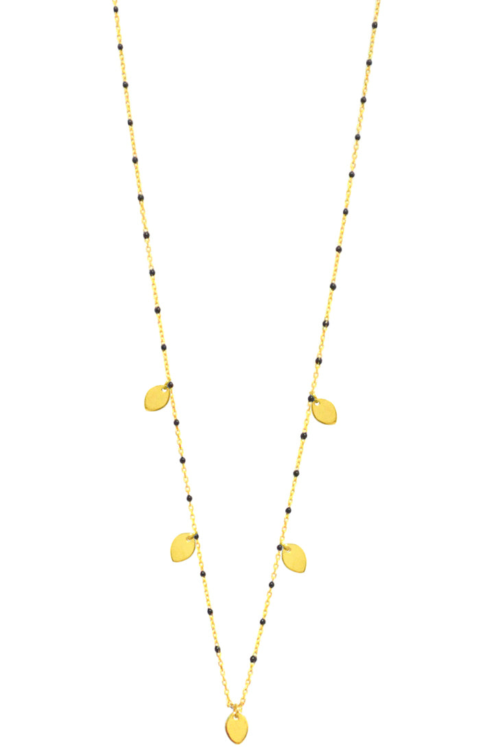 Gold leaf Enamel necklace