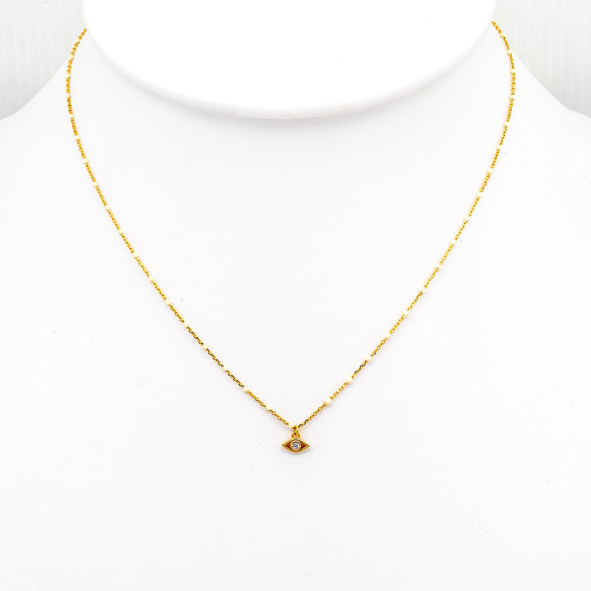gold necklace women jewelry s enamel crystal metallic in lyst chanel