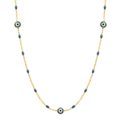 Enamel Beaded Evil Eye Necklace