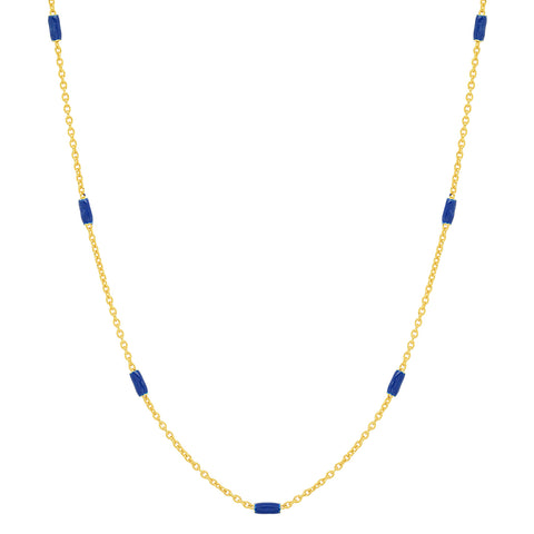 Enamel Beaded Necklace