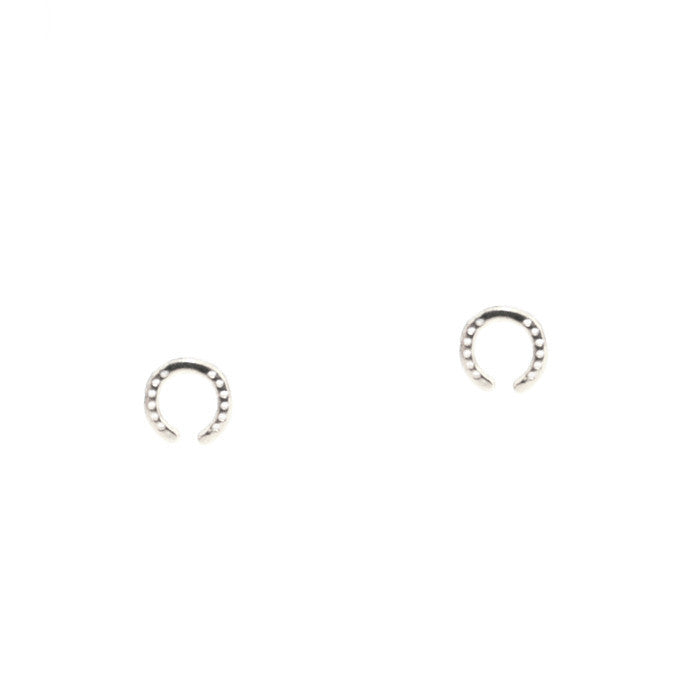 MINI ETCHED HORSESHOE STUDS