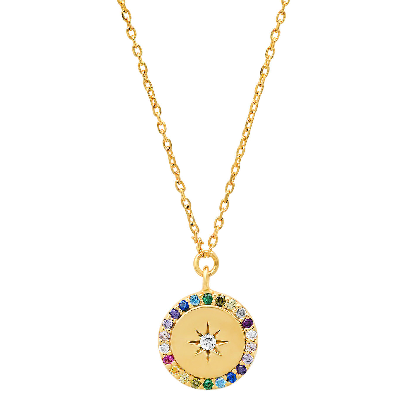 Rainbow Pendant With Star Center