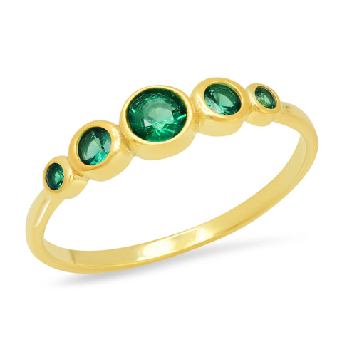 Five Stone Emerald Ring