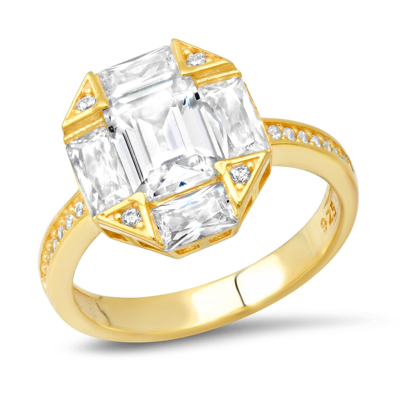 Art Deco CZ Ring