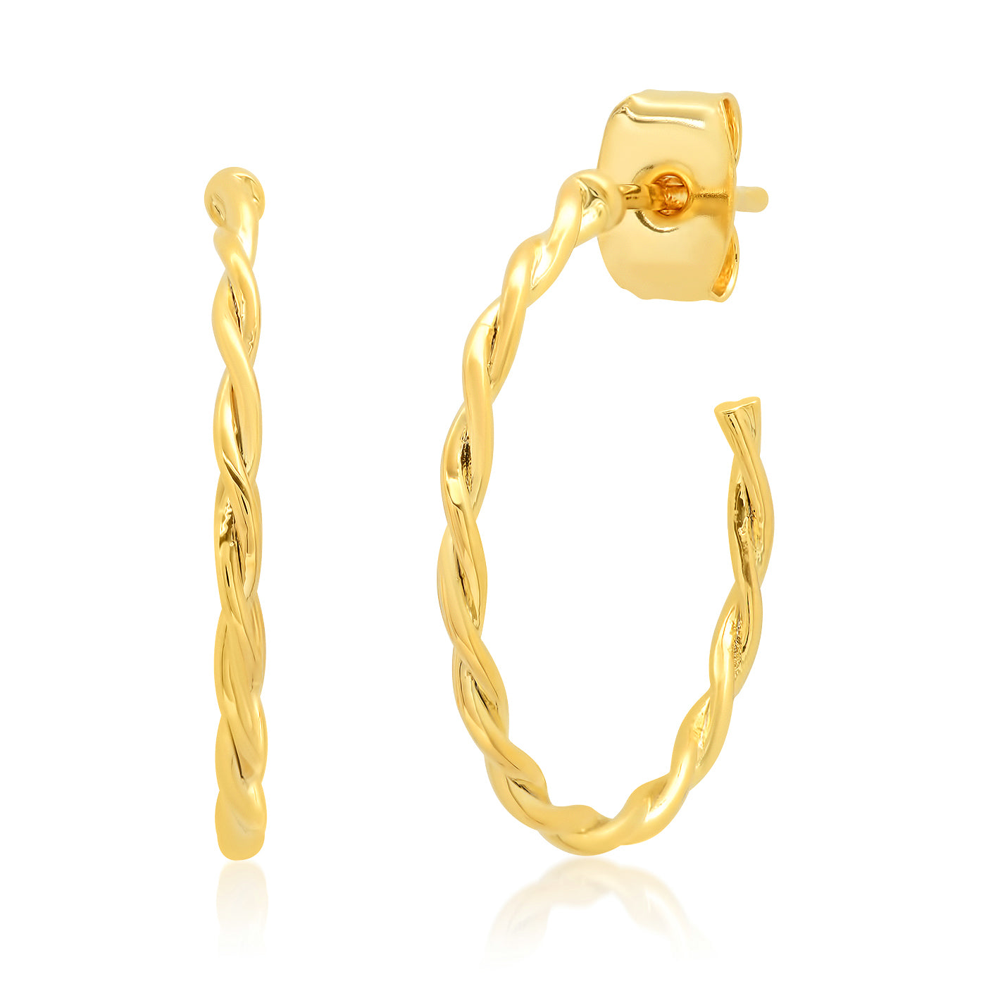 Braided Gold Hoop Earring