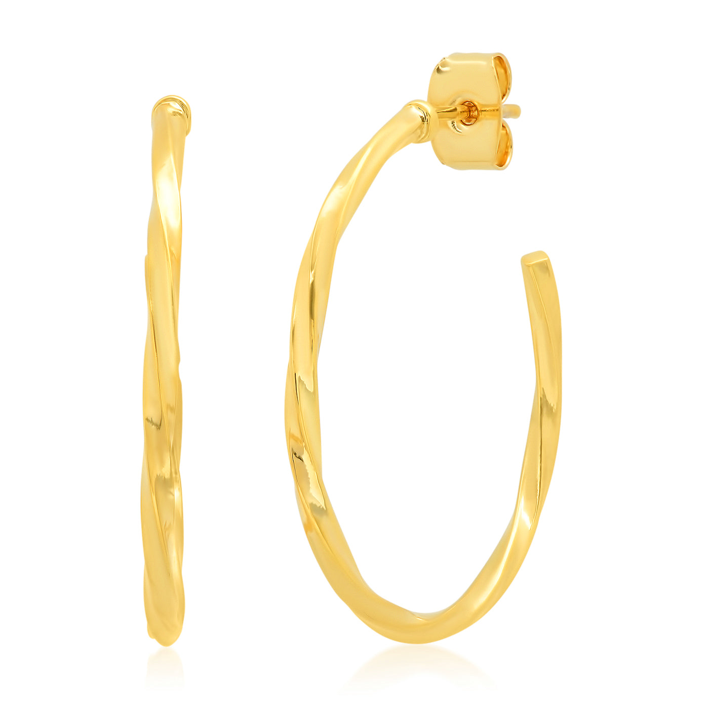 Twisted Gold Hoop Earring