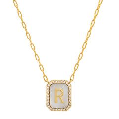 Mother of Pearl Monogram Pendant