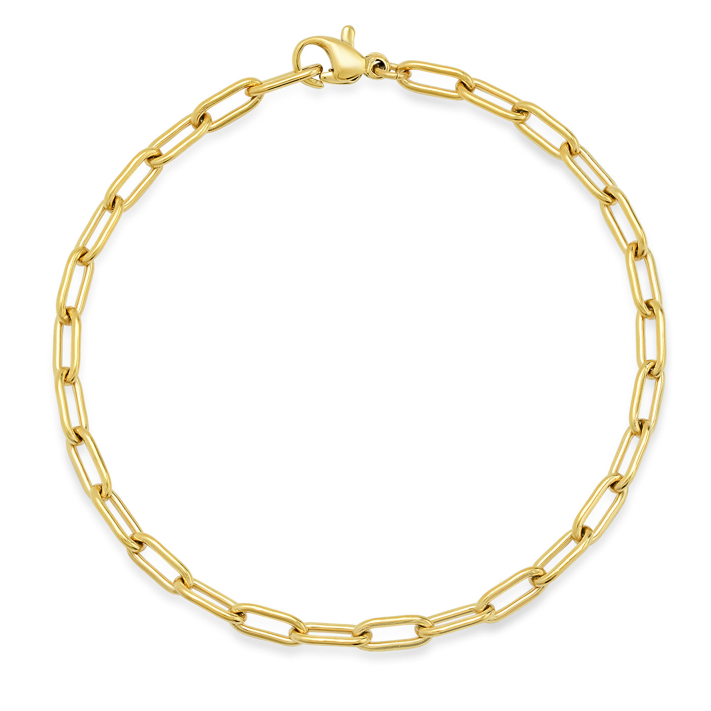 Small Oval Cable Link Chain Bracelet