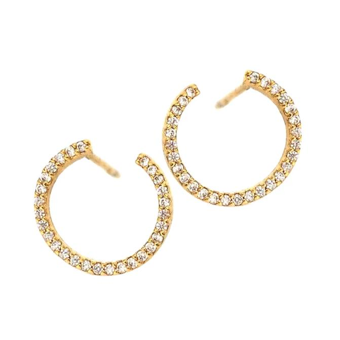 Front to Back Pave Hoop Earrings