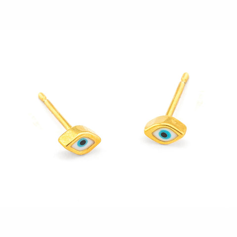 Tear Eye Enamel Stud