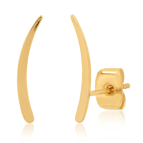 Simple gold curved Bar Crawler Studs