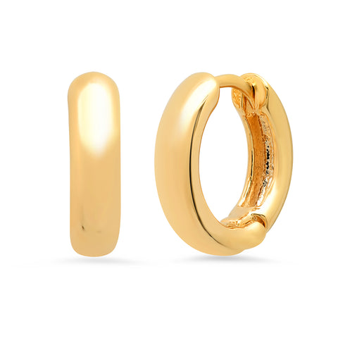 Thick 13mm Gold Huggie