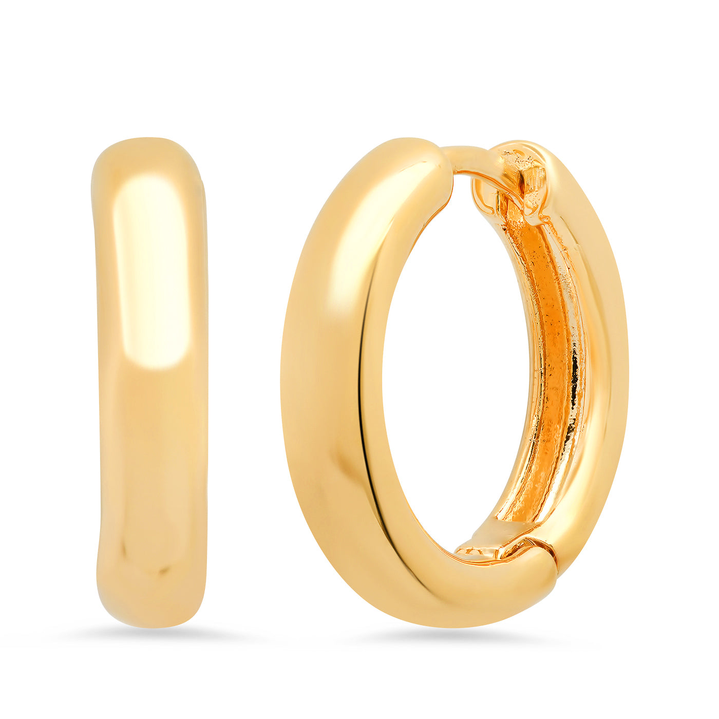 Thick 15mm Gold Huggie