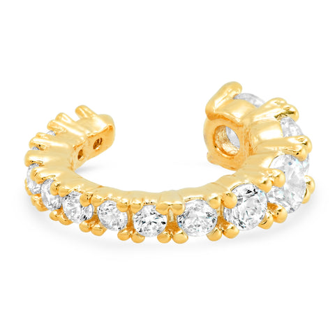 Graduated CZ Gold Ear Cuff