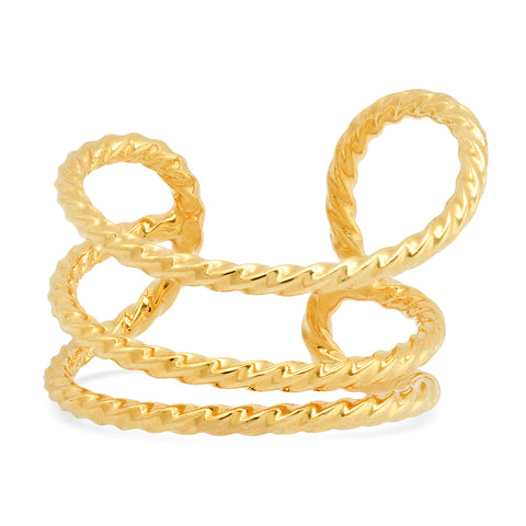 Curve Gold Ear Cuff
