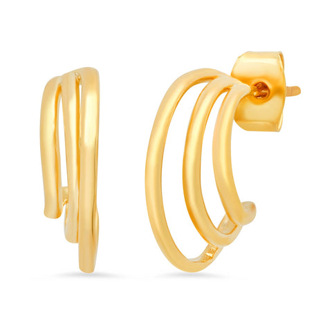 Gold Cage Hoops