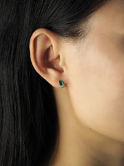Teardrop CZ Studs with CZ Accents