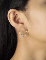 Double Row CZ Front Facing Hoop