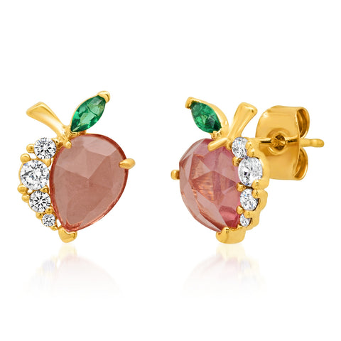 Glass Peach Studs
