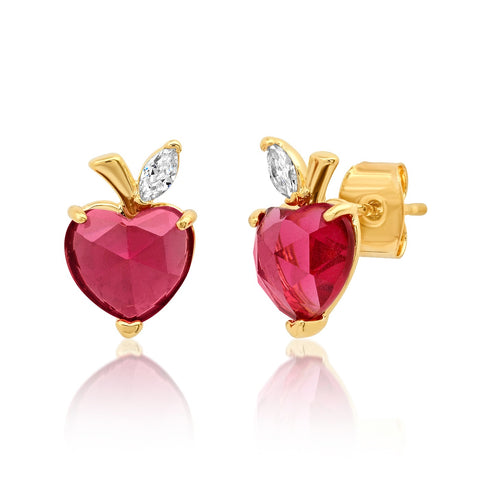 Apple Heart Studs