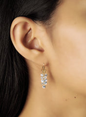 Elongated Cluster CZ Earrings