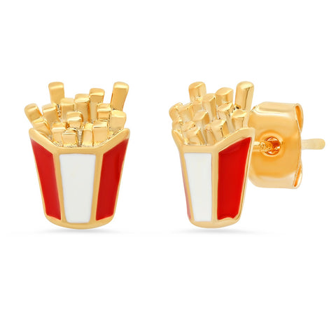 Enamel French Fry Studs
