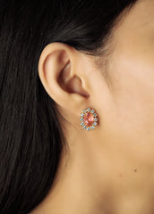 Flower Studs with Rose Center