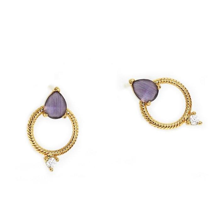 earring circle earrings stud open from gold ingenious uk jewellery