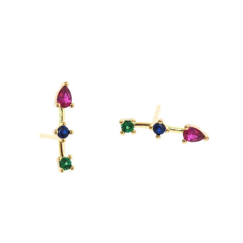 Jewel Tone CZ Station Crawlers