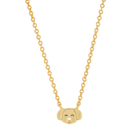 Whimsical Gold Dog Pendant Necklace