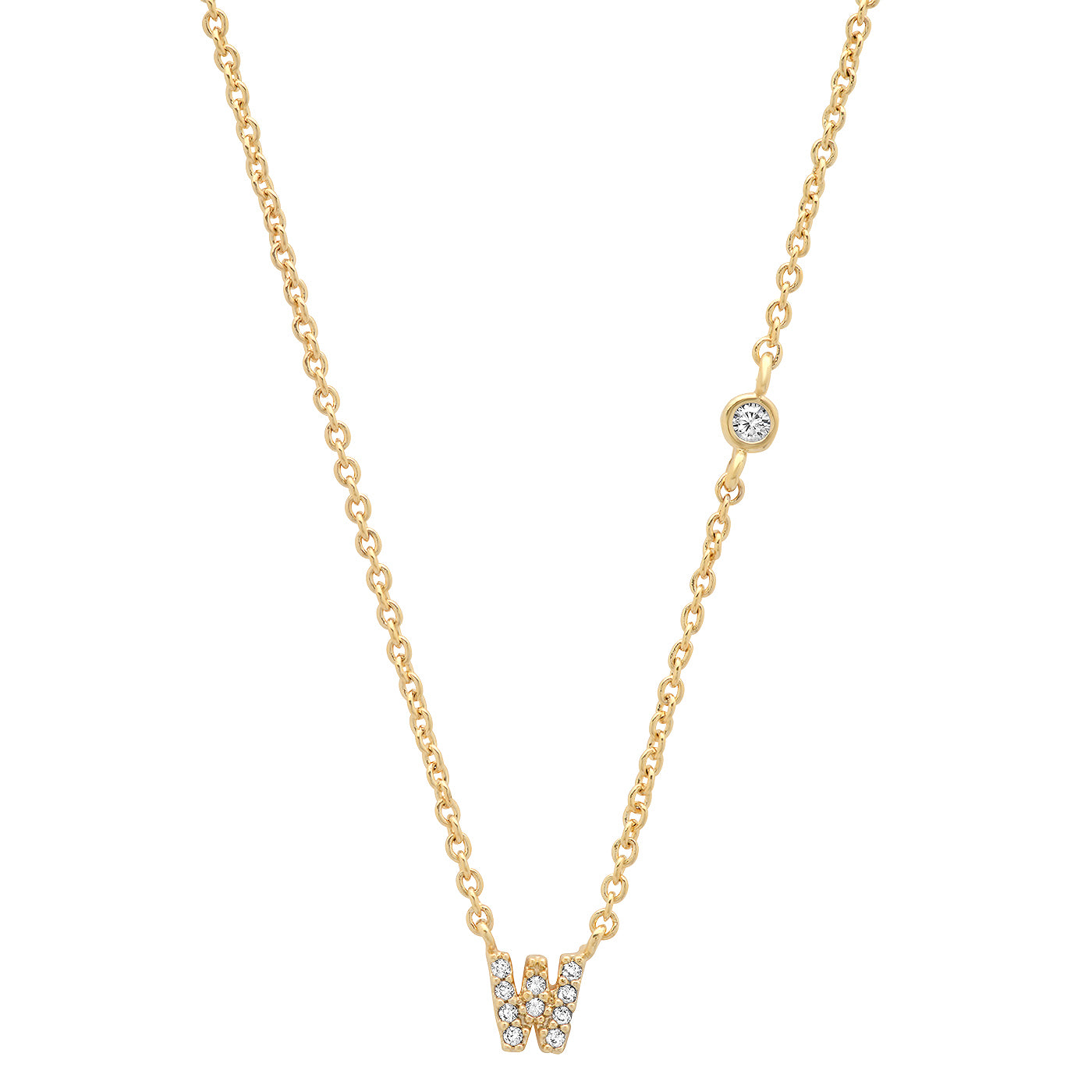 CZ INITIAL NECKLACE