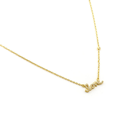 CZ LOVE PENDANT NECKLACE