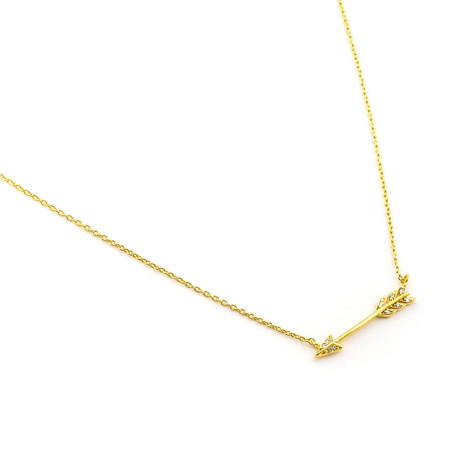 CZ ARROW PENDANT NECKLACE