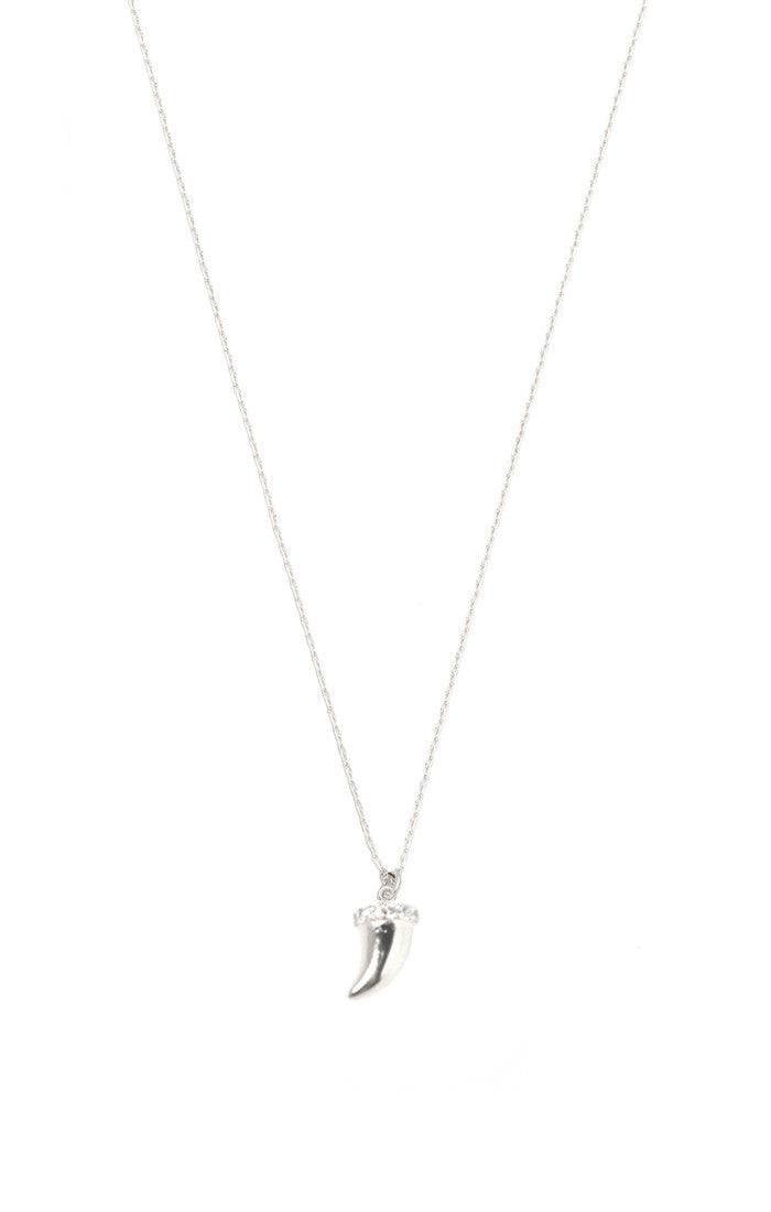 SIMPLE CHAIN NECKLACE WITH CZ HORN