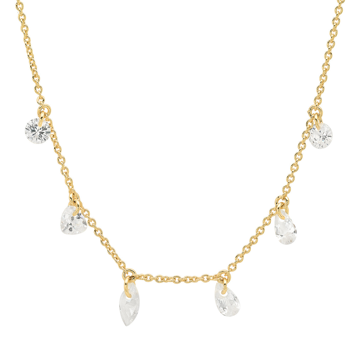 Floating CZ Dangle Necklace