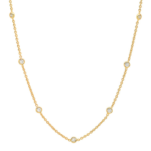 Bezel Set Cubic Necklace