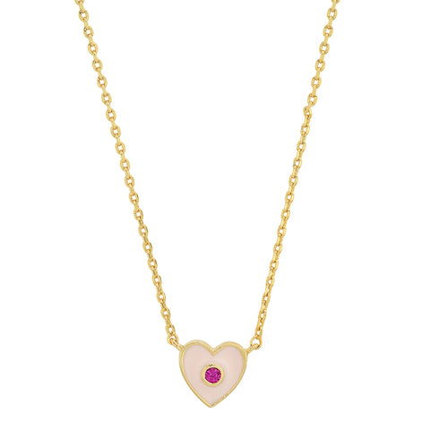Enamel Heart Necklace
