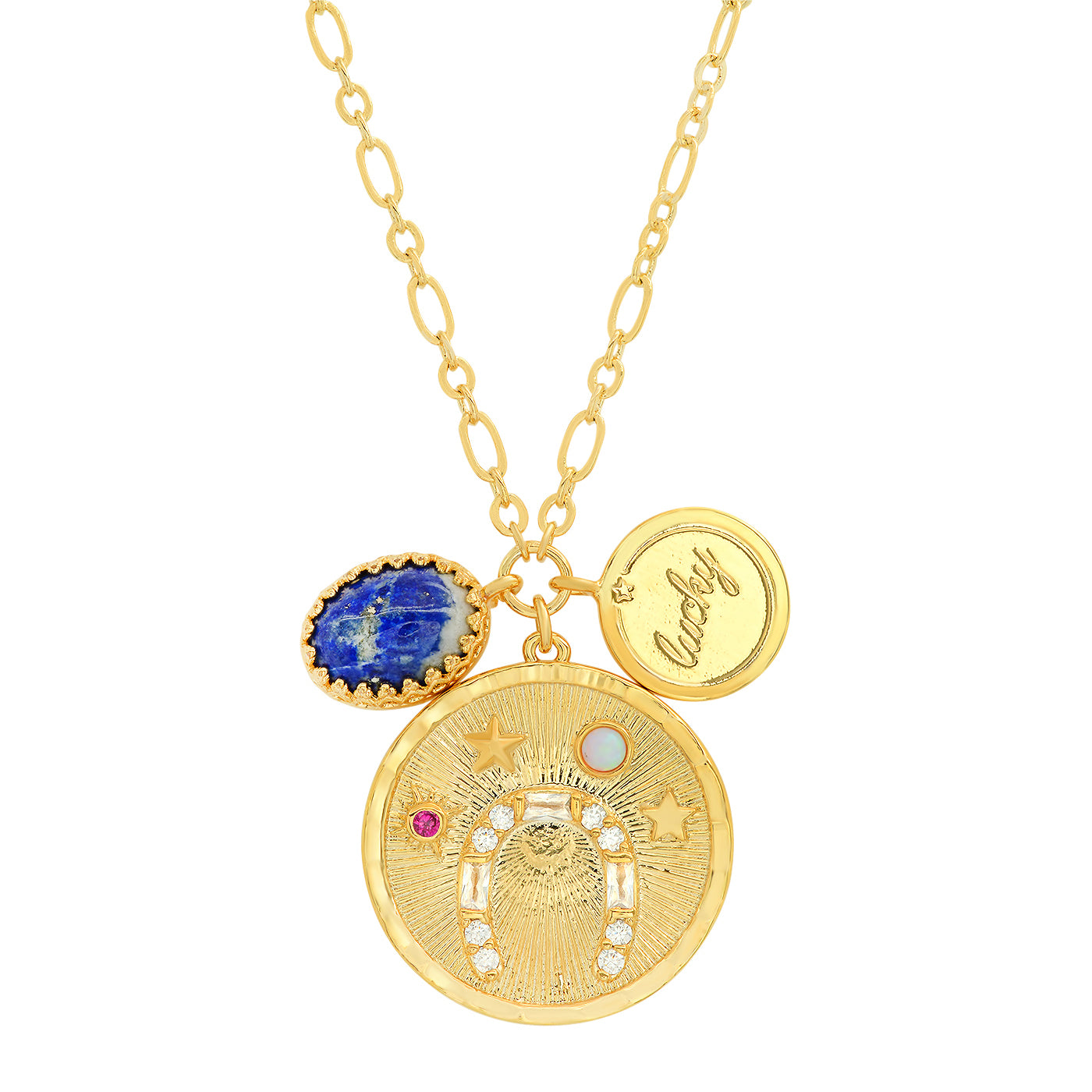 Lucky Coin Pendant Charm Necklace