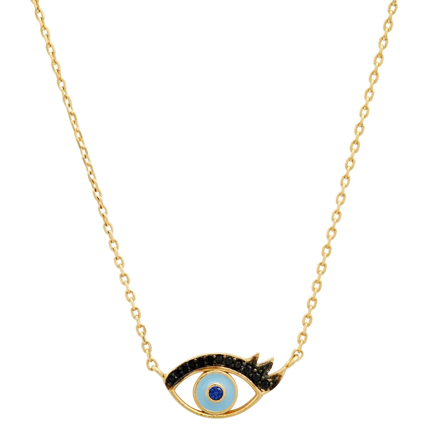 Enamel Eye with Lashes Pendant