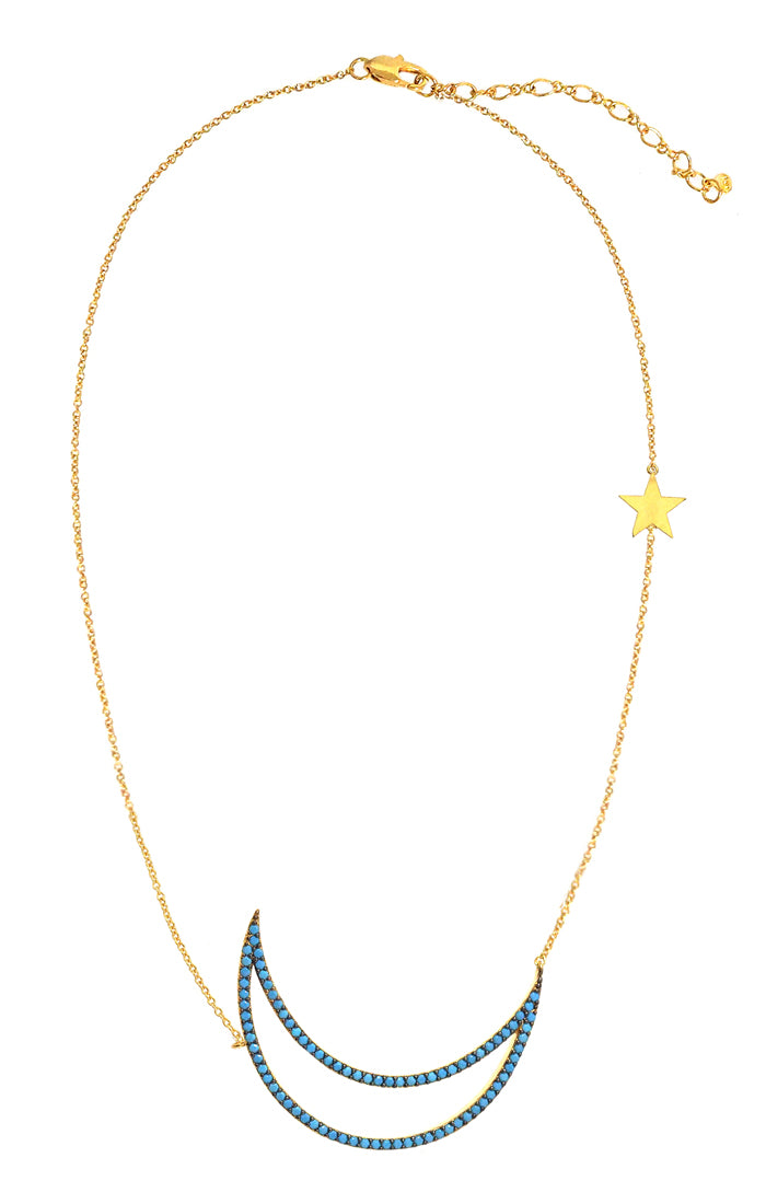 Oversized Star and Moon Necklace