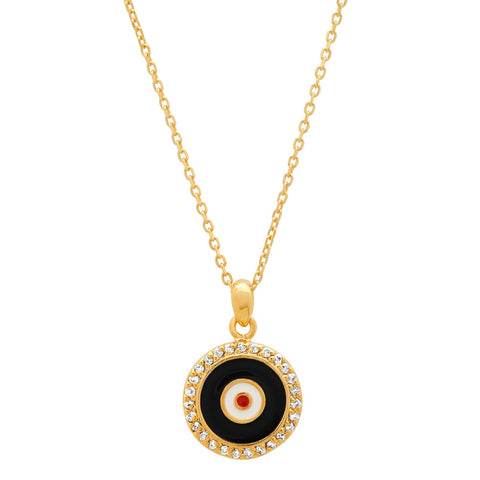 Enamel Medium Round Eye Pendant